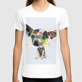 Chihuahua Colorful Dog Art Collage T-shirt