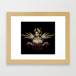 Heroes Die Framed Art Print