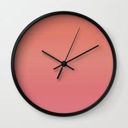 Pantone Living Coral/Sun Kissed Coral Ombré Gradient Wall Clock