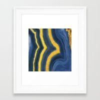 agate Framed Art Prints featuring agate by The Pretty Shop NYC