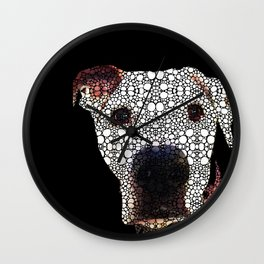 Stone Rock'd Dog 2 by Sharon Cummings Wall Clock