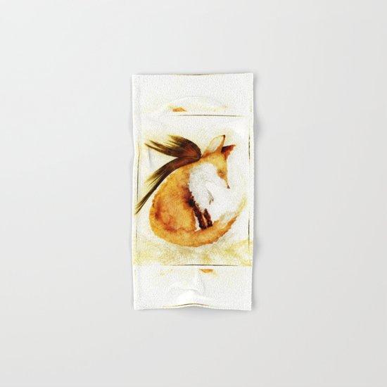 Winged Fox Sleeping Hand & Bath Towel
