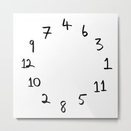 terrible clock Metal Print