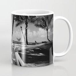 Kuau Beach Palm Trees and Hawaiian Outrigger Canoe Paia Maui Hawaii Coffee Mug
