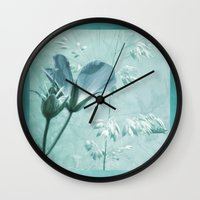 bill Wall Clocks featuring crane's bill  by PaulaPanther