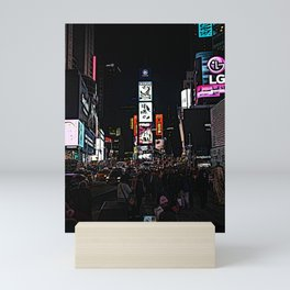 time square rush Mini Art Print