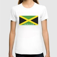 jamaica T-shirts featuring Jamaica country flag name text by tony tudor