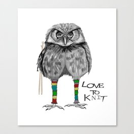loves to knit Canvas Print