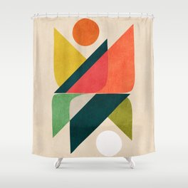 Reflection (of time and space) Shower Curtain
