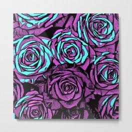 Roses | 8 BIT Metal Print