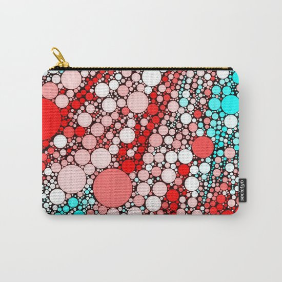 Bubble shower,red,aqua Carry-All Pouch