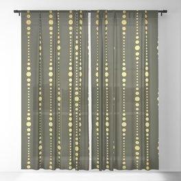 Art Deco Le Carnaval Pattern Sheer Curtain
