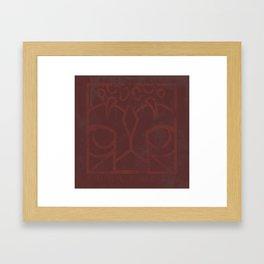 Weathered Logo Framed Art Print