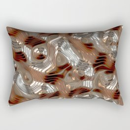 Liquid Metal Texture Rectangular Pillow