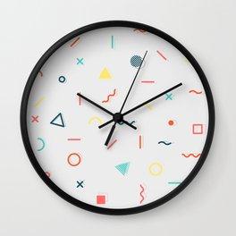COLORFUL MEMPHIS PATTERN Wall Clock