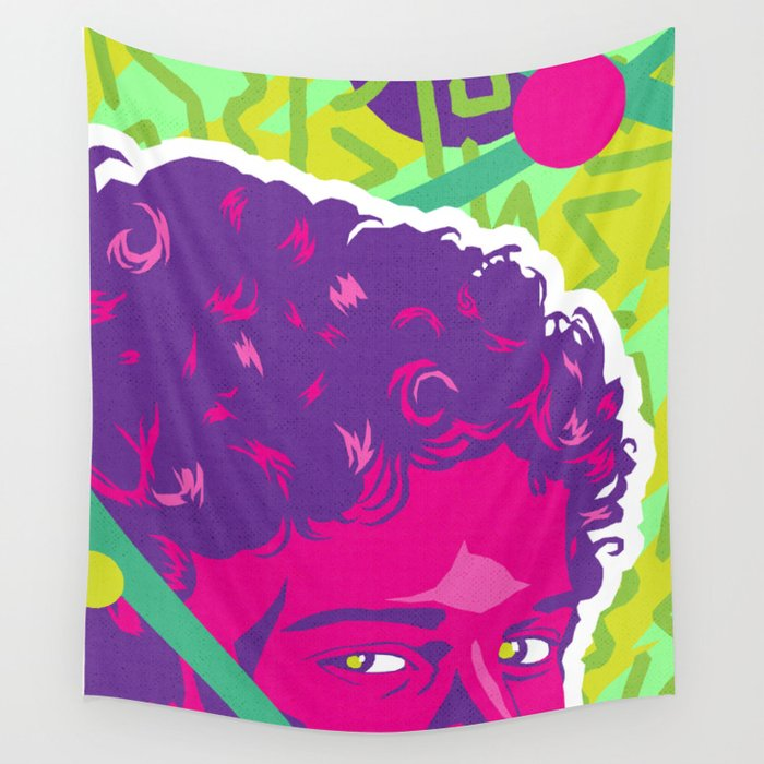 Screech Memphis Design Saved By The Bell Series Wall Tapestry