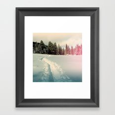 path in the snow Framed Art Print