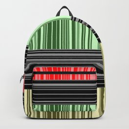 Red-yellow - green stripes. Backpack