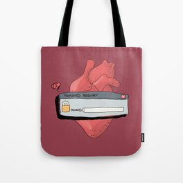 Heart locked Tote Bag