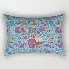 Caravan Pattern Rectangular Pillow