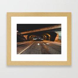 Tunnel Run Framed Art Print
