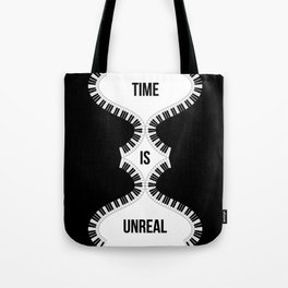 Time Is Unreal Modern Abstract Tote Bag