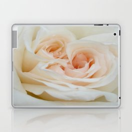 Close Up View Of A Beautiful White Rose Laptop & iPad Skin