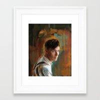 cumberbatch Framed Art Prints featuring B. Cumberbatch by Wisesnail