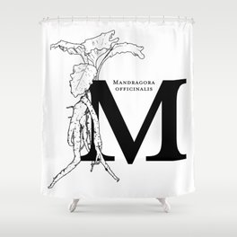 M is for Mandrake Shower Curtain