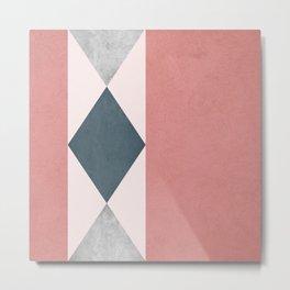 Rhombus design Metal Print