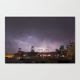 Lightning Over Coors Field Canvas Print