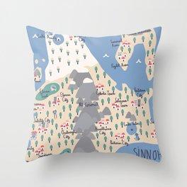 Sinnoh Map Throw Pillow