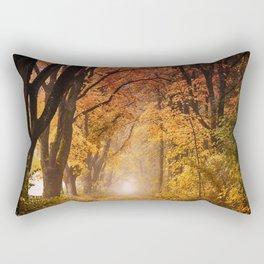 Autumn Fall Forest Path -  Nature Landscape Photography Rectangular Pillow