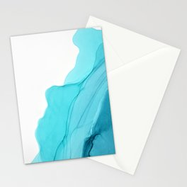 Aqua Ink Composition Stationery Cards