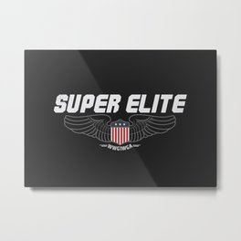 Super Elite MAGA Where we go one we go all QAnon wings Metal Print