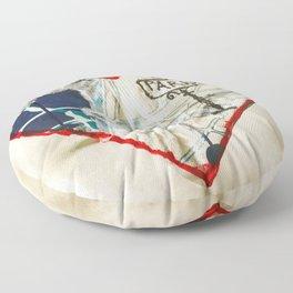 Paris Roadmap of Love Floor Pillow