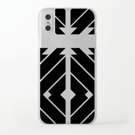 MONOCHROMA Geometrica : Black & White Box Pattern Clear iPhone Case