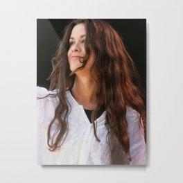 Art print POSTER  Canvas Singer Alanis Morissette Smiling Metal Print