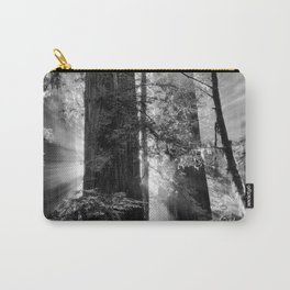 Old Growth Forest Light Black and White Carry-All Pouch