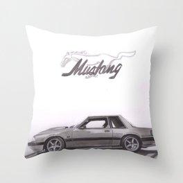 Mustang 1991 Throw Pillow