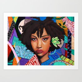 Patchwork of She Art Print
