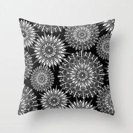 Mandala Negative Throw Pillow