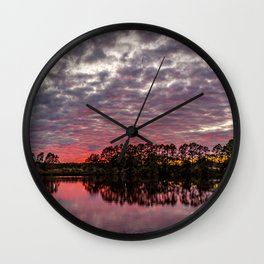 Final Color after Sunset Wall Clock