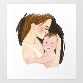 babe in arms Art Print