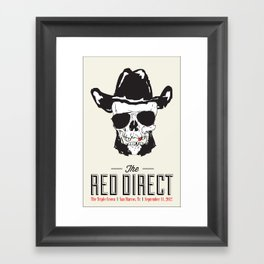 The Red Direct - Concert Poster Framed Art Print