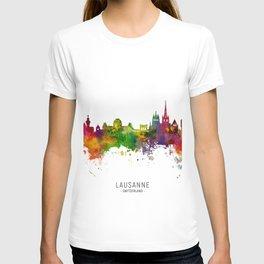 Lausanne Switzerland Skyline T-shirt