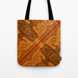 Diagonal Abstract Psychedelic Doodle 9 Tote Bag