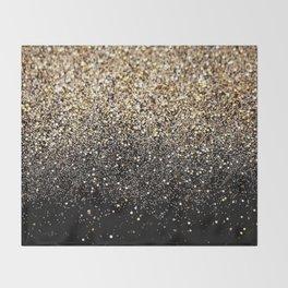 Black & Gold Sparkle Throw Blanket