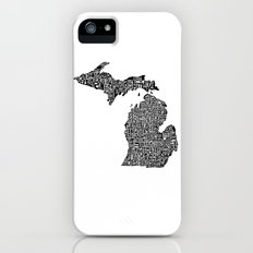 Typographic Michigan Slim Case iPhone (5, 5s)