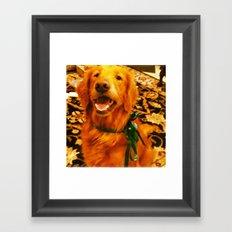 Christmas Pup Framed Art Print